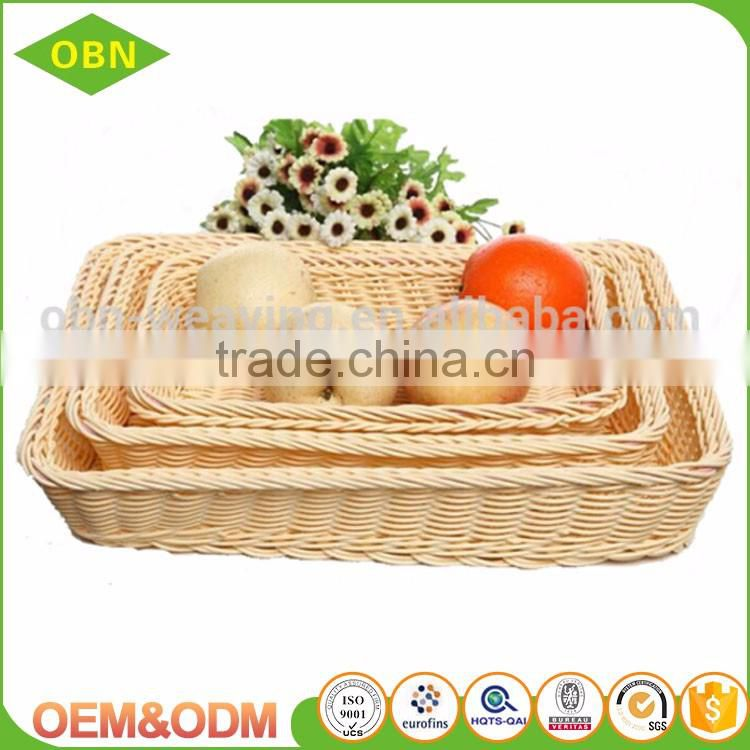 China high quality customized cheap PP plastic empty food designer bread fruit basket for supermarket