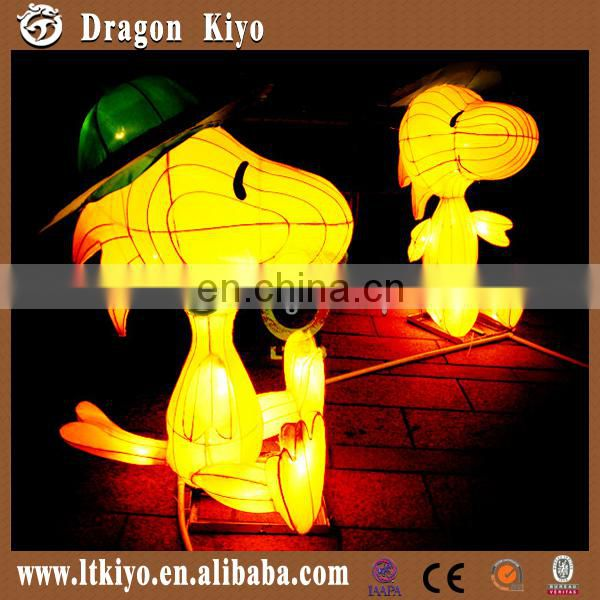 2016 chinese cloth lantern,inner led animal shape lantern for park