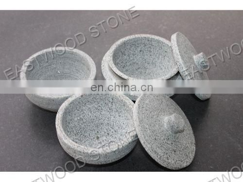 Big soapstone pot for cooking stone