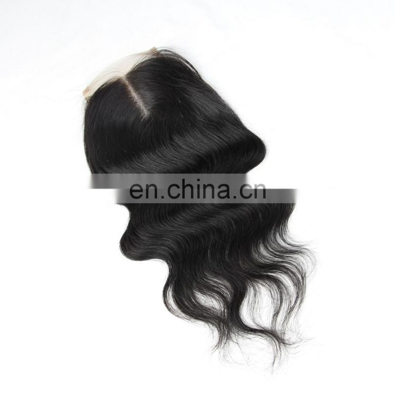 FAST SHIPPIING 100% brazilian human virgin 9A hair free part LACE CLOSURE in body wave cuticle aligned hair