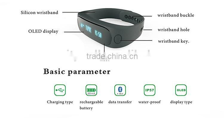 90 days standby time 2015 Fitness Smart Band for iOS Android