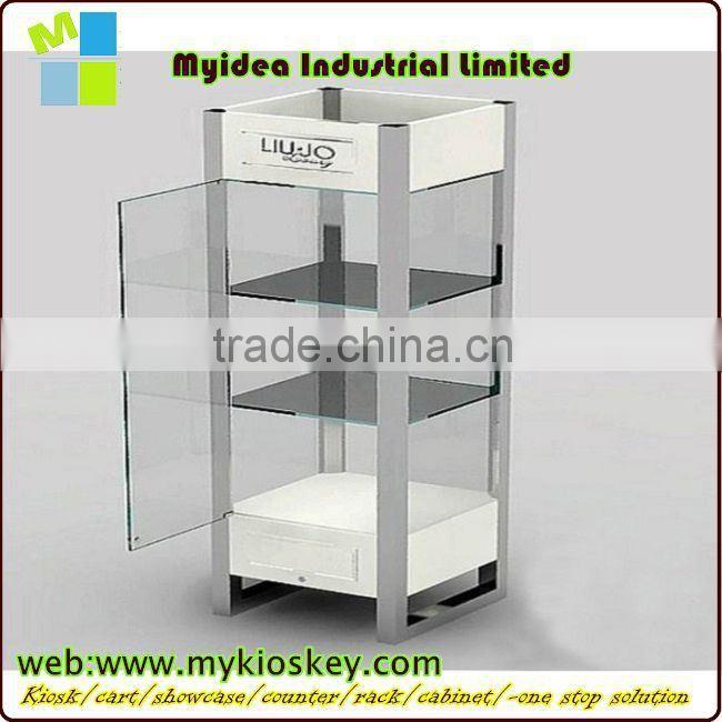 Stainless Steel Sliding Glass Door Display Cabinet Metal File