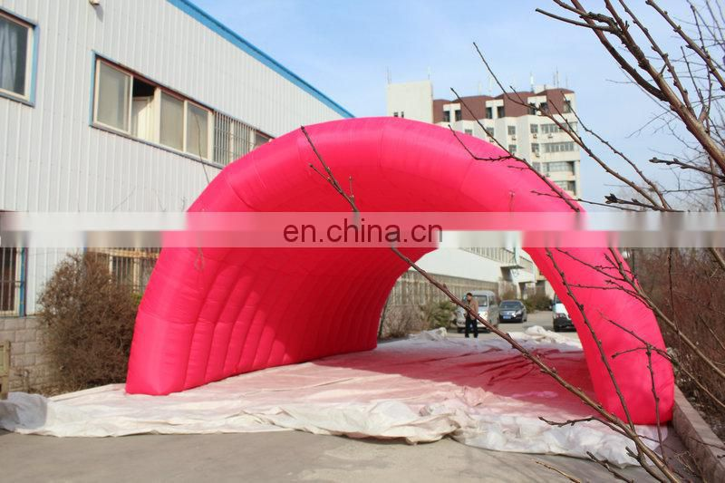 costomized new style multicolor giant entrance inflatable tunnel tent for sale