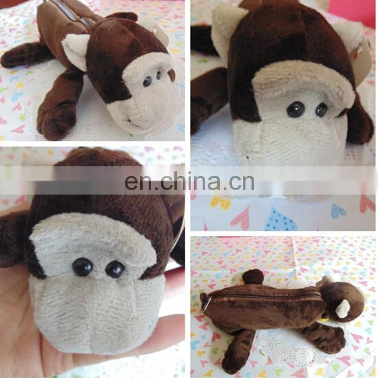 Hot sale plush custom pencil case stuffed toys pencil case for kids