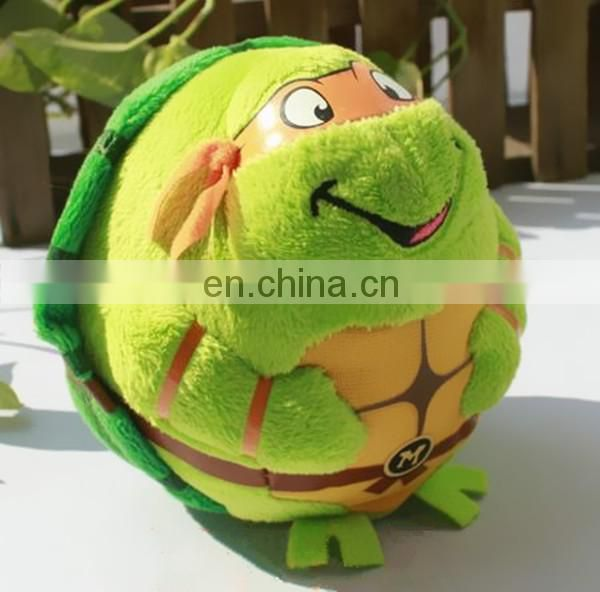 promotion funny Ninja Turtle mini plush toy ball