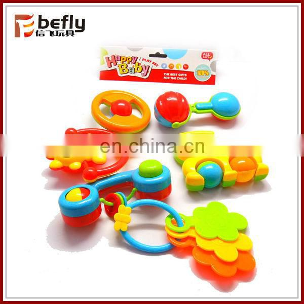 ECO material Baby rattle toy plastic ring bell