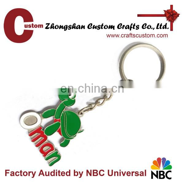 Promotional gifts Honor Cross with hard Enamel souvenir metal keychain