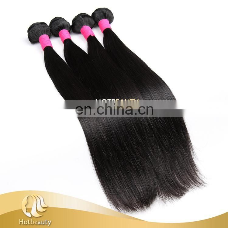 100% untreated brazilian virgin Human Hair straight hair weave without Shedding and Tangle