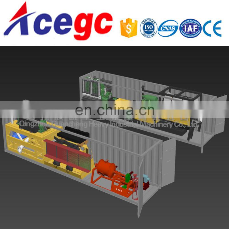 China Gold Trommel Screen wash processing plant for sale Image