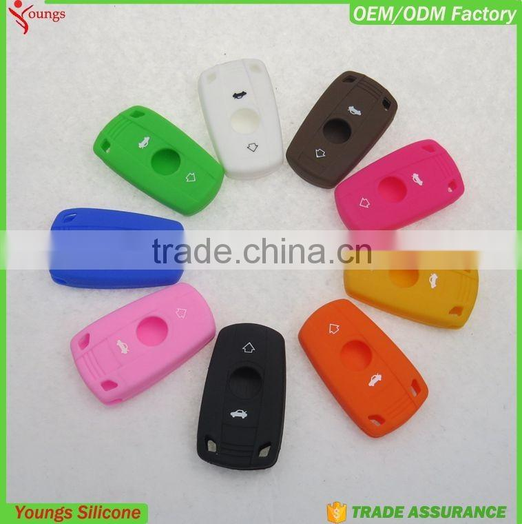 2016 eco-friendly custom colorful silicone rubber car key covers in multi colors