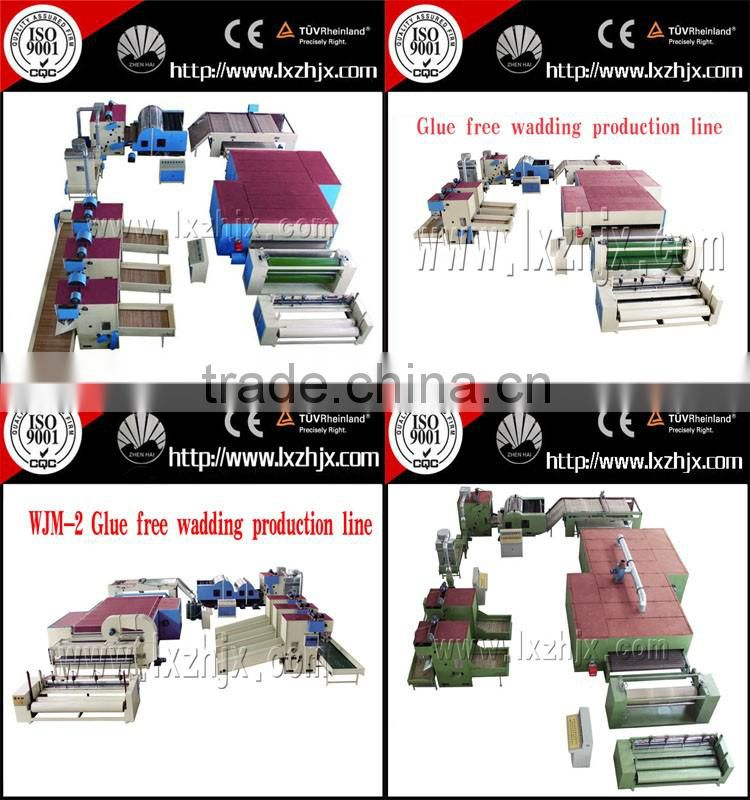 Non woven polyester fiber stiff wadding machine, hard wadding machine