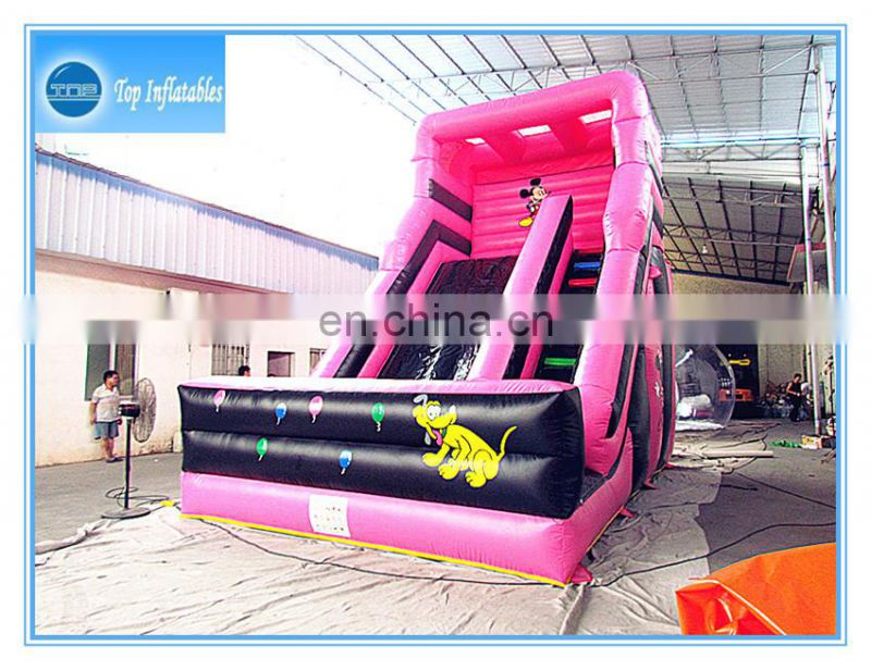 Guangzhou TOP inflatable kids park slides inflatable funny track slide on sale
