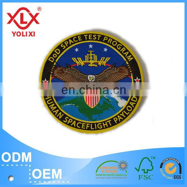 2014 new fashionable customized sports brand embroidery badge