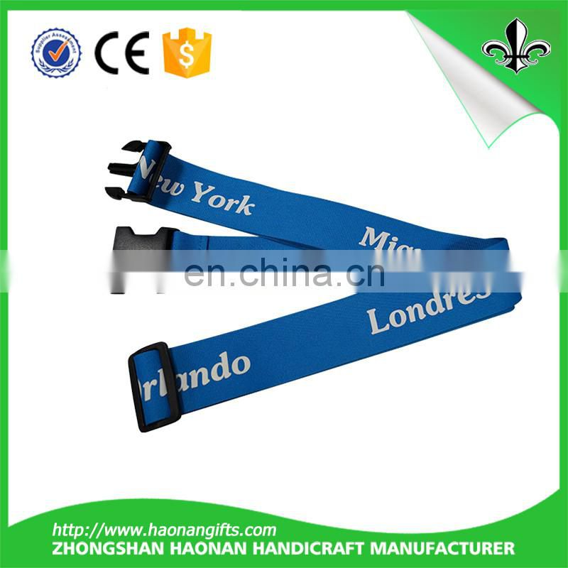 Wholesale promotional custom elastic luggage strap with plastic buckle
