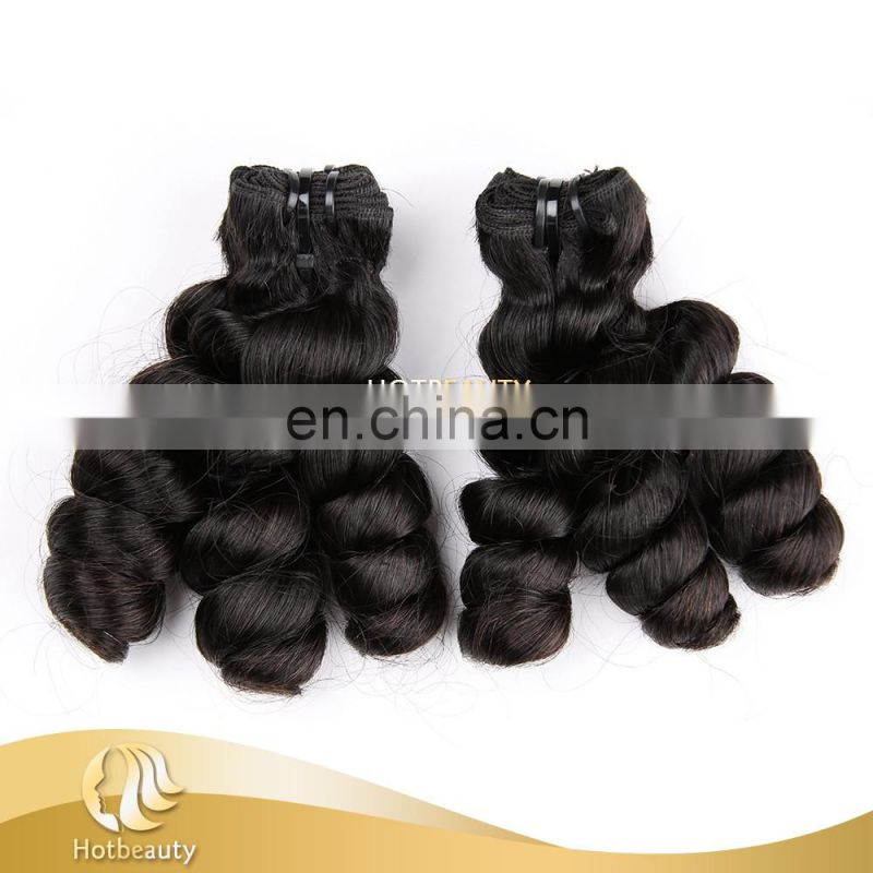 2015 hot sale funmi hair doubl drawn romance hair 100% human virgin hair