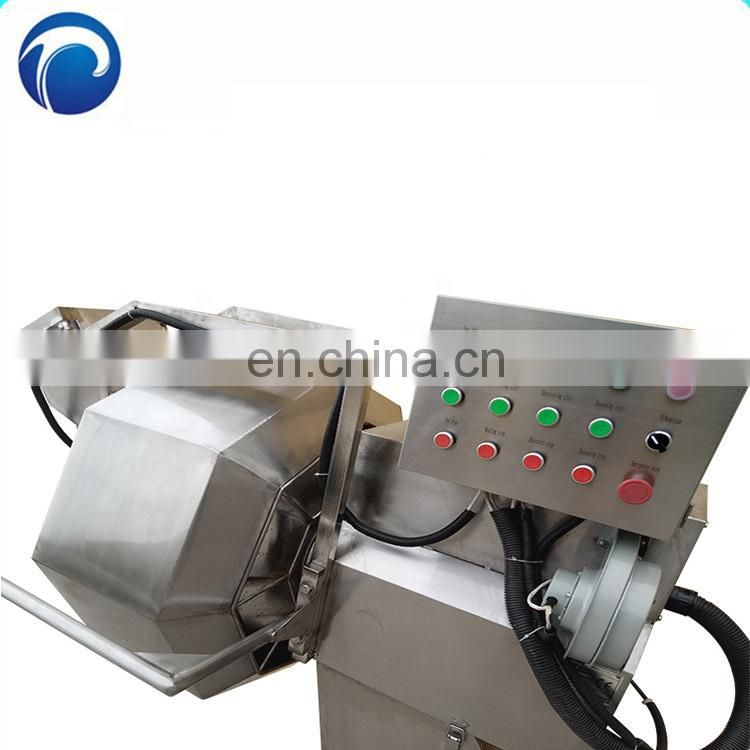 Automatic octagonal seasoning machine, fried snack food automatic mixing and seasoning machine Image