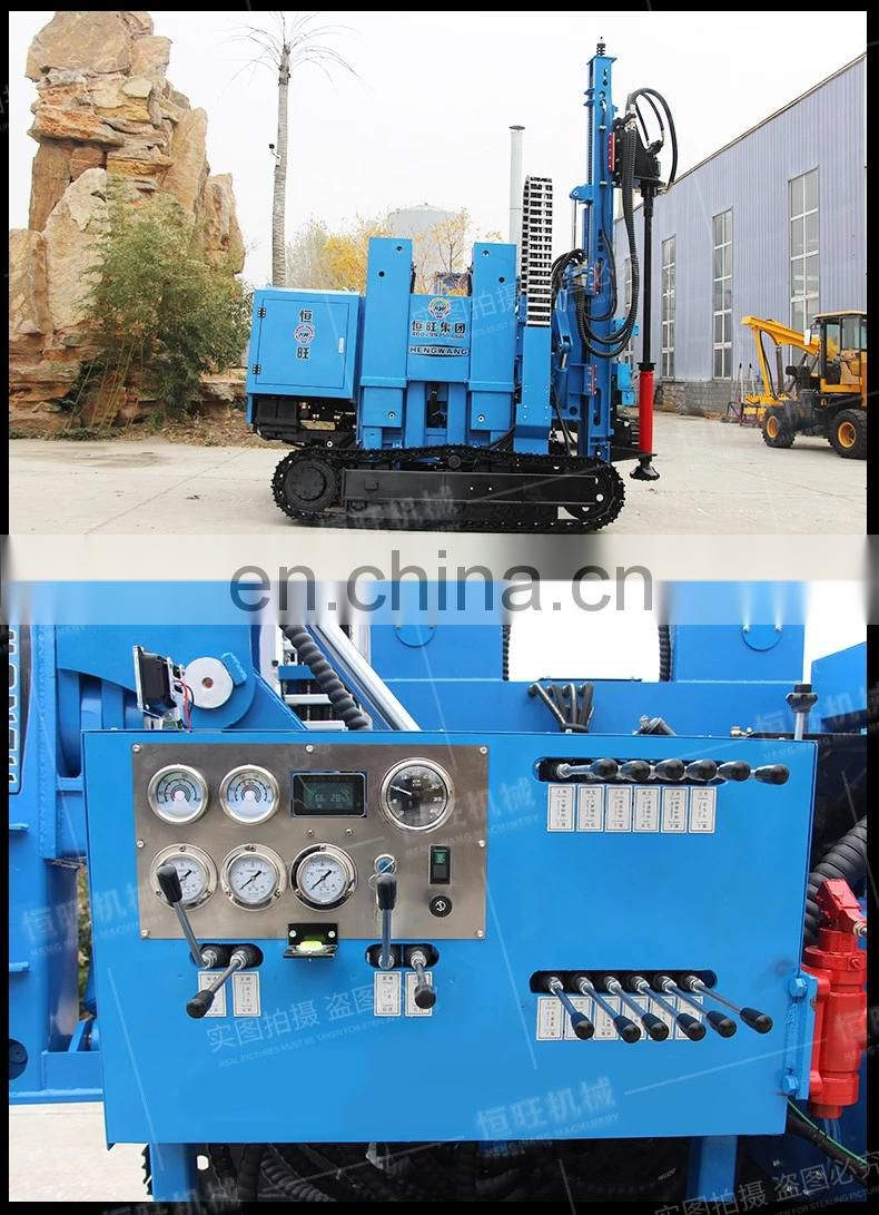 Mountain Telescopic slip pile driver Large slope screw hammer pile driver