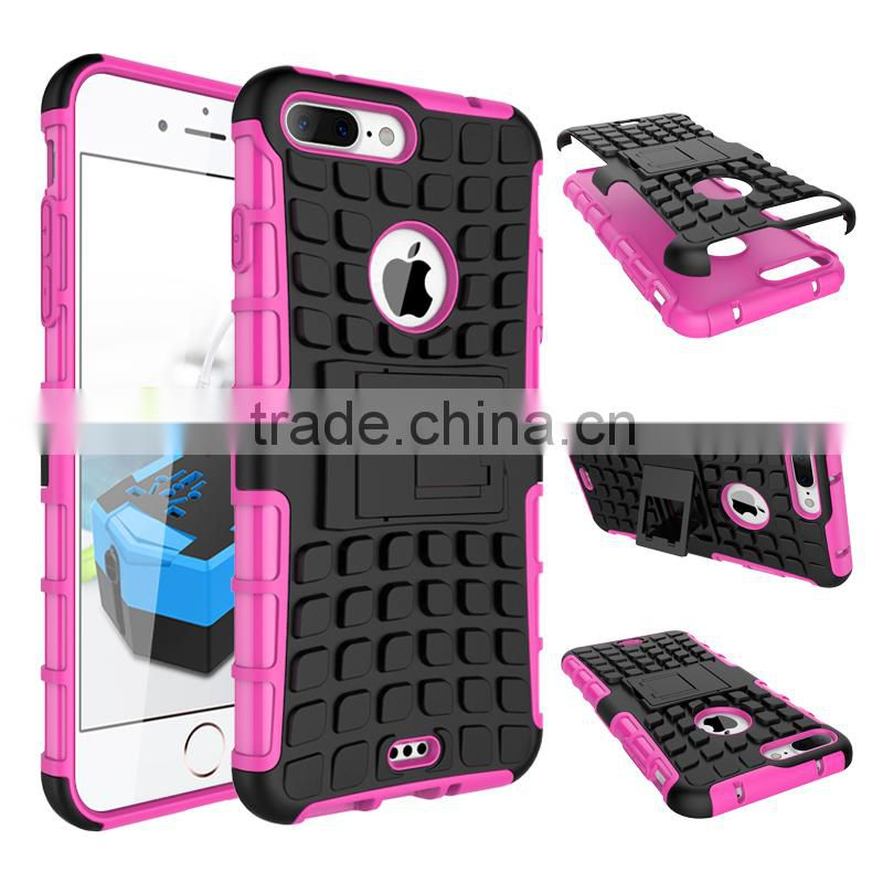Hybrid 2 in 1 TPU&PC back cover case combo armor case shockproof wholesale cell phone accessories Image