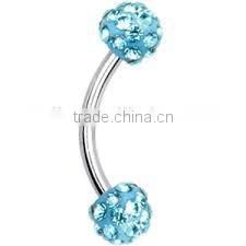 wholesale steel eyebrow navel lip belly rings button bar body piercing jewelry eyebrow ring piercing