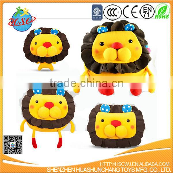 best quality plush lion backpack