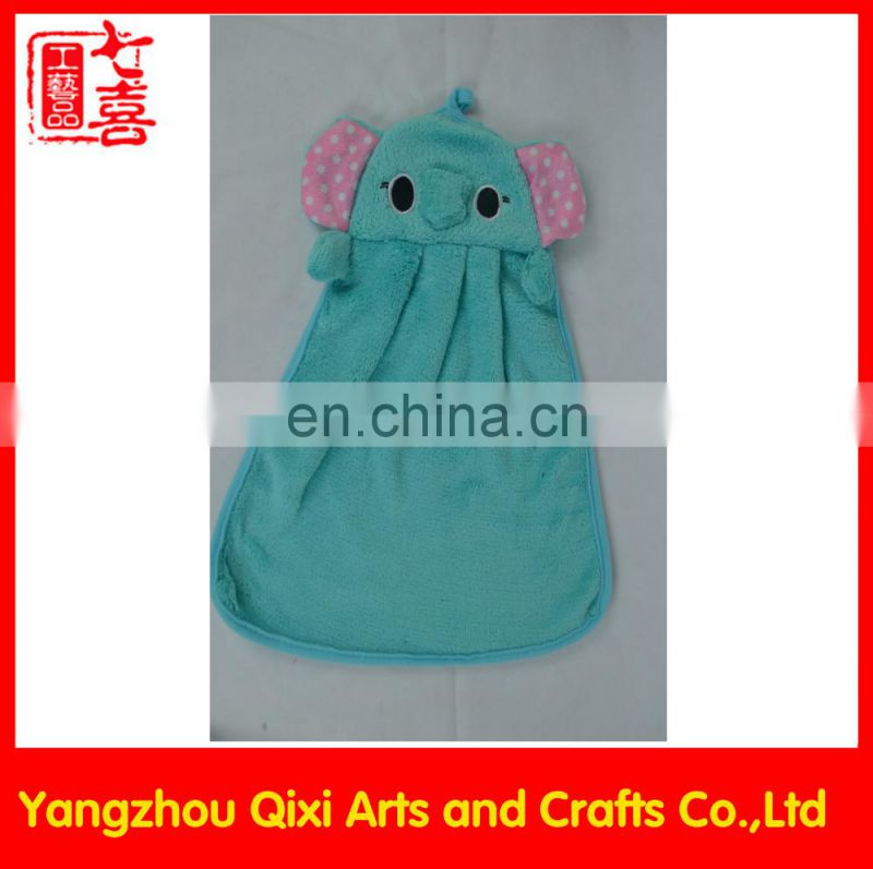 Cheap wholesale hand towels plush cartoon bear face hand towel promotion polyester towel