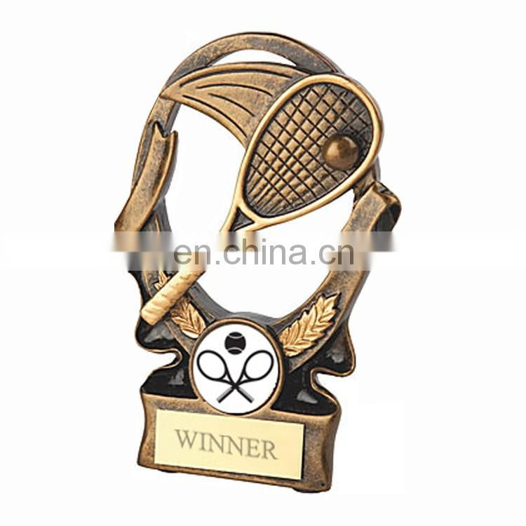 Unique tennis trophy printing machines bowling trophy with name logo
