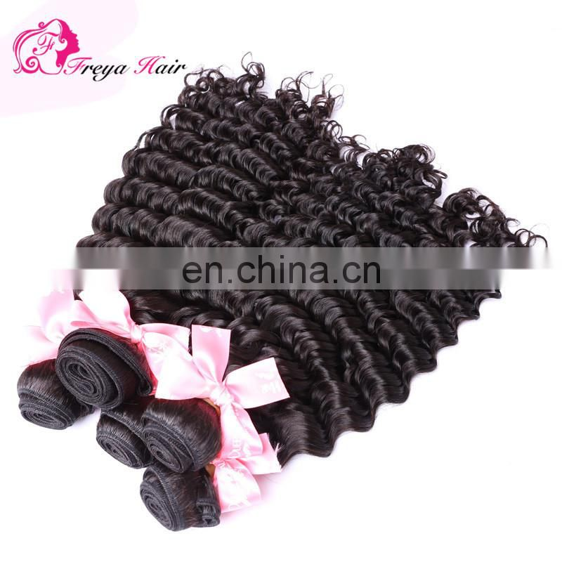 Qingdao wholesale remy hair african human hair weave deep wave african human hair extensions