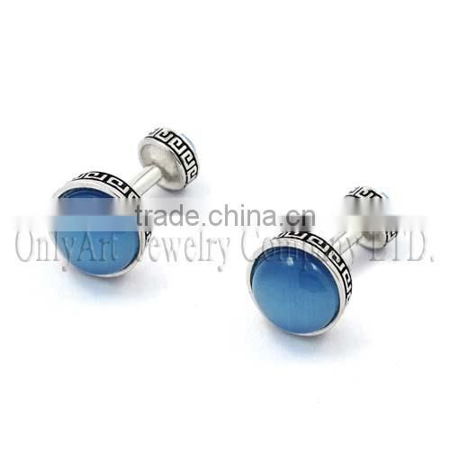 wholesale alibaba China supplier gemstone cufflinks, shell inlaid gemstone cufflinks mens accessories fashion jewelry
