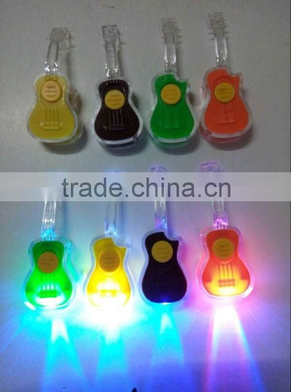 Mini Volin Guitar Ukelele shape led flashlight keychain / keychain bottle opener wholesale