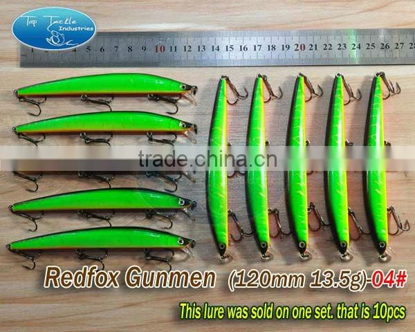 hard plastic fishing lures-floating hard fishing lure Redfox Gunmen 120mm 13.5g