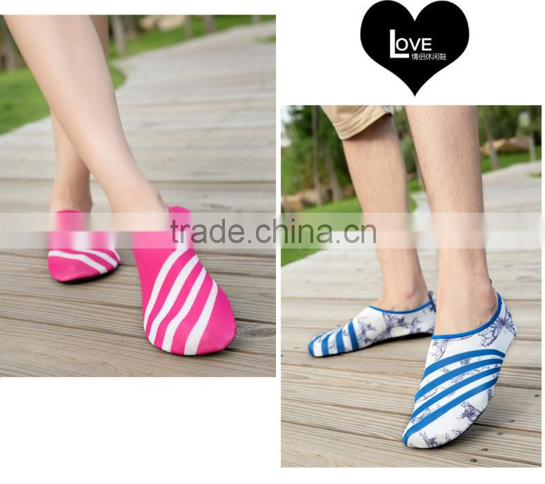 Anti-slip light weight and high elasticity lovers sports casual shoes to skin for adults