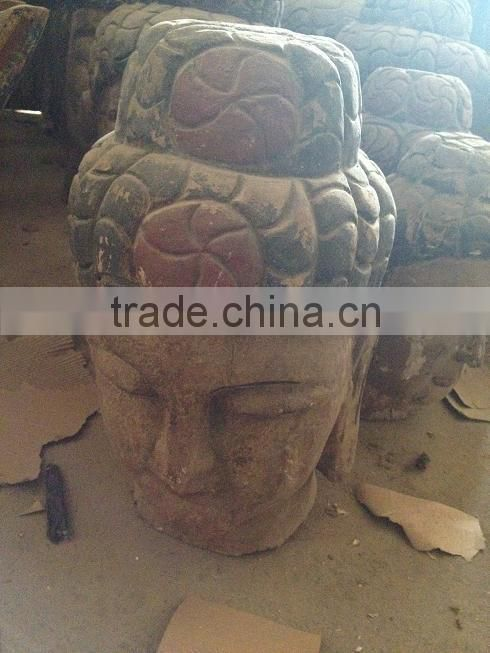 Hand Carved Antique Imitation Wooden Buddha Head for sale