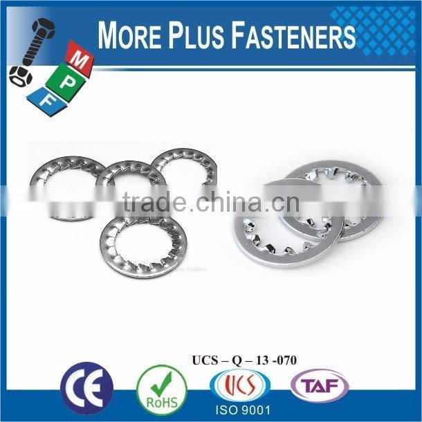 Taiwan Stainless Steel 18-8 Copper Brass Aluminum Brass Lock Washer Type Of Lock Washers Star Lock Washer