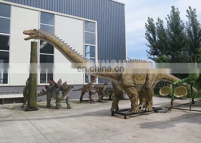 Amusement Park Animatronic Dinosaurs Diplodocus Model