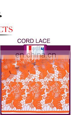 Blue color 2017 high quality latest african cord sequence lace fabric