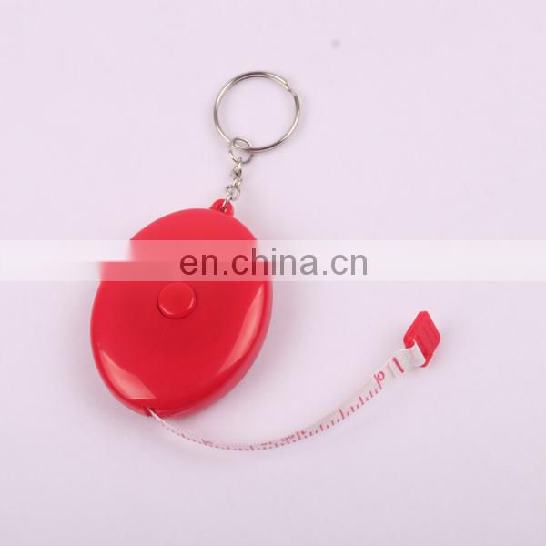 Portable Retractable Ruler Keychain Tape Measure 60inch/150cm red