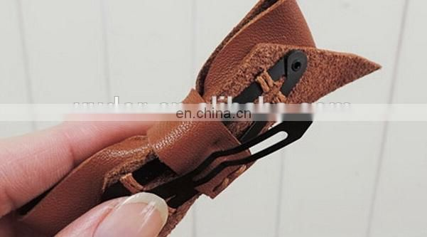 WHOLESALE VINTAGE POPULAR LADY HAIR LEATHER BOW HEADBAND