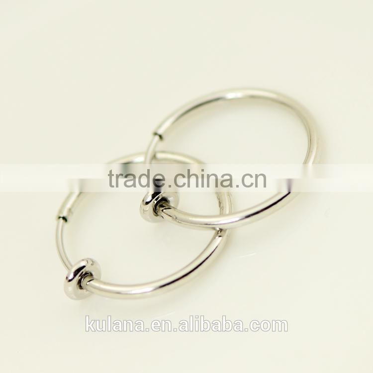 Hot sale 316L Surgical Steel Fake Spring Clear Nose Rings