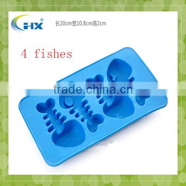 Food Grade Safe Odm Design Kids Trucks Boats Planes Silicone Ice Cube Tray