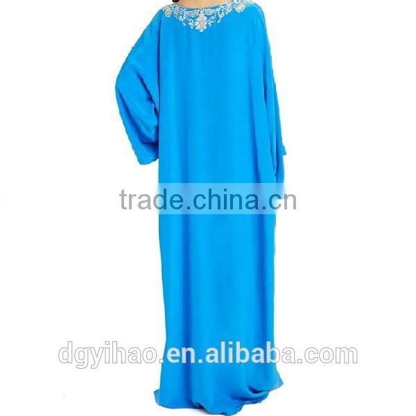Wholesale custom made middle east Europ long gown abaya women wear fashion lady baju muslim kurung Muslim Lady Lace Grown Kaftan