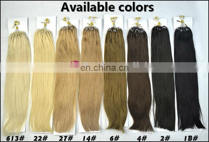 brazilian jerry curl micro ring hair extensions offer many colors for customers' choices