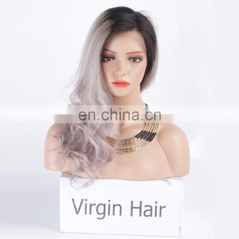 Raw indian hair preplucked wholesale grey human hair wigs