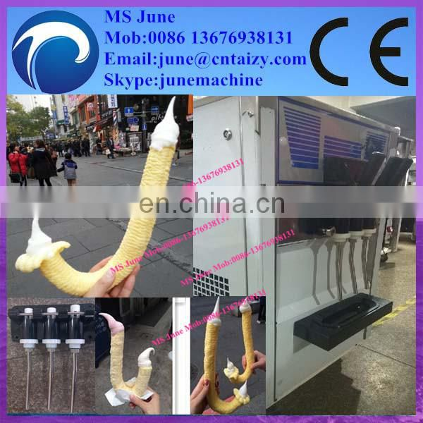 hot selling Korea popular grain puffed machine with ice cream filling