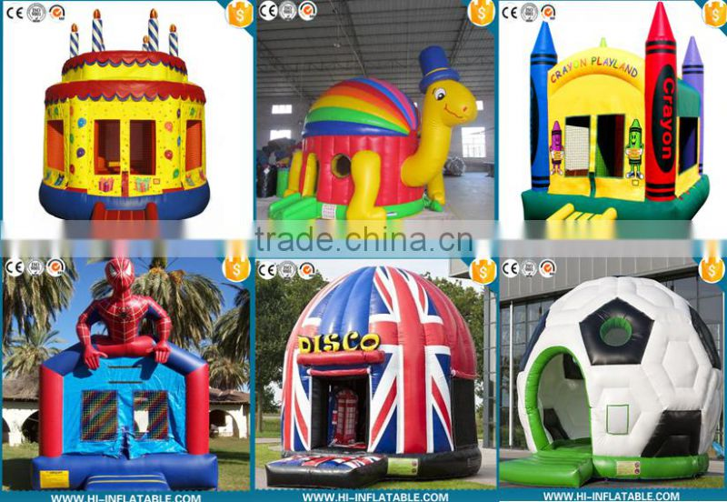2016 hot sale inflatable Spider Bouncy Castle with slide, outdoor inflatable spider man theme bouncy castle