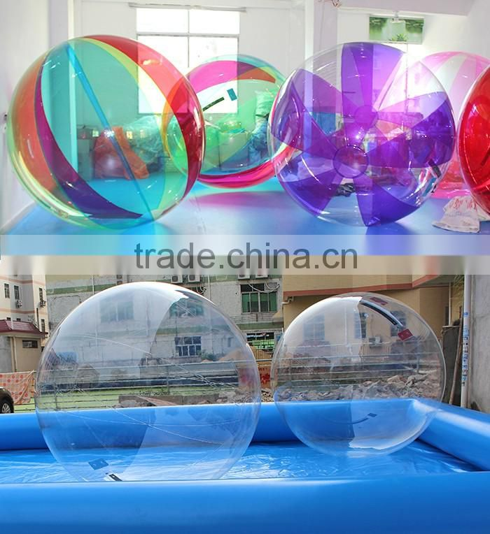 Hot red and clear TPU inflatable ball water ball water walking ball