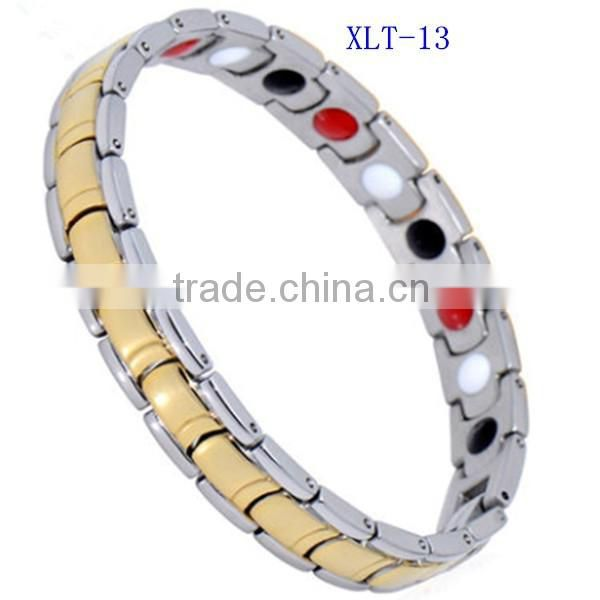 2016 new product bio magnetic stainless steel germanium bracelet