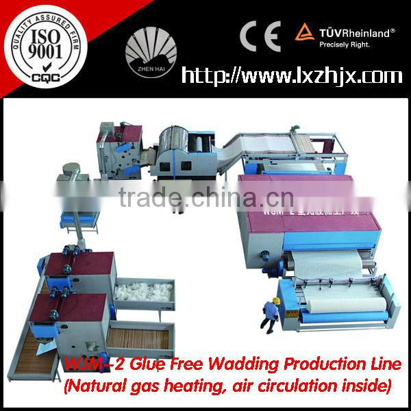 WJM-2 Nonwoven polyester fiber wadding line , glue free padding production line