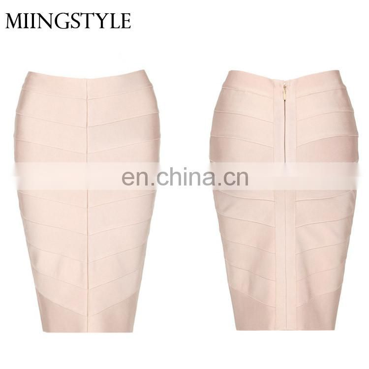 New fashion multi color skirt bodycon women sexy casual formal bandage skirts ladies