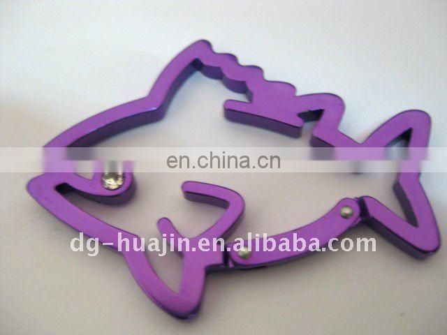 dolphin shape Metal Carabiner for toys accessory
