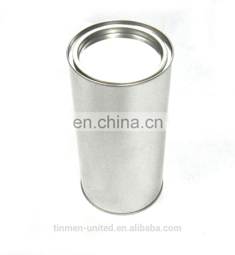 Round tin tea containers